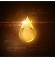 Collagen serum or oil essence droplet vector image