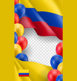 colombian patriotic template with copy space vector image vector image