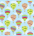 colorful air balloons travel repeat pattern vector image