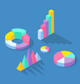colorful business statistics elements for vector image vector image