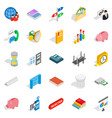 command icons set isometric style vector image vector image