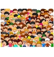 Crowd of children vector image vector image