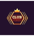 Crowned Poker Club Neon Sign vector image vector image