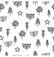 cute tribal seamless pattern with hand drawn vector image vector image