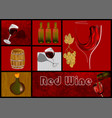 design set for drink wine vector image vector image