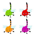 dragonfly with different facial expressions vector image vector image