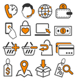 E-commerce Shopping Flat Icons Signs Collection vector image