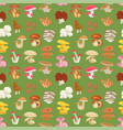 edible mushroom seamless pattern vector image vector image