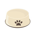 Empty dog bowl vector image