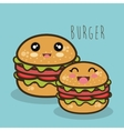 fast food burger cartoon graphic isolated vector image vector image