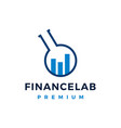finance lab logo icon vector image vector image