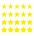 five stars icon set vector image vector image
