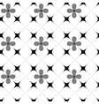 Flower and square seamless pattern vector image vector image