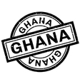 Ghana rubber stamp vector image vector image