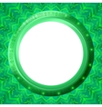 glass porthole on green background vector image