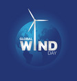 global wind day icon logo vector image vector image