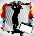 golf summer frame vector image vector image