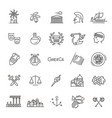 Greece line icon set