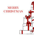 greeting card with inscription merry christmas vector image