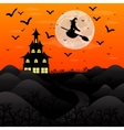 Halloween patty Witch and bats vector image vector image