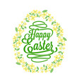 happy easter greetings card calligraphic lettering vector image vector image