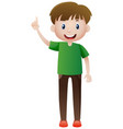 happy man pointing finger up vector image