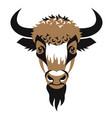 head bison vector image vector image