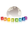 internet concept with globe vector image vector image