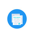 iso 9001 standard icon vector image vector image