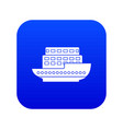 large passenger ship icon digital blue vector image vector image