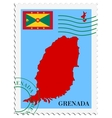 mail to-from Grenada vector image vector image
