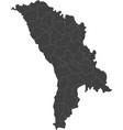 map of moldova split into regions vector image vector image