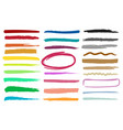 marker highlight stripes vector image vector image