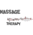 massage therapy school text background word cloud vector image vector image