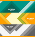 material design badges vector image