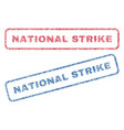 national strike textile stamps vector image vector image
