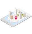 NYC Map 03 Building Isometric vector image