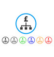 pound hierarchy rounded icon vector image vector image