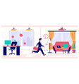 remote work policy concept flat vector image vector image