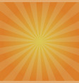 retro orange background radiation stylish vector image vector image