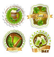 saint patricks day emblems set vector image vector image