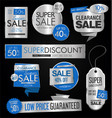 sale stickers and tags silver collection vector image vector image