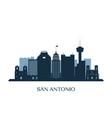 san antonio skyline monochrome silhouette vector image vector image