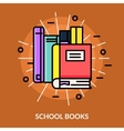 School Books Icon vector image