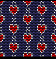 seamless love knitting pattern vector image vector image