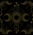 seamless pattern from triple moon magic and vector image