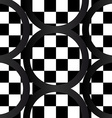 Seamless pattern of crazy bw geometrics