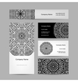 Set of abstract creative business cards design vector image vector image