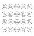 set round line icons shoes vector image vector image