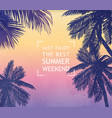 summer inspiration card for beach tropical party vector image